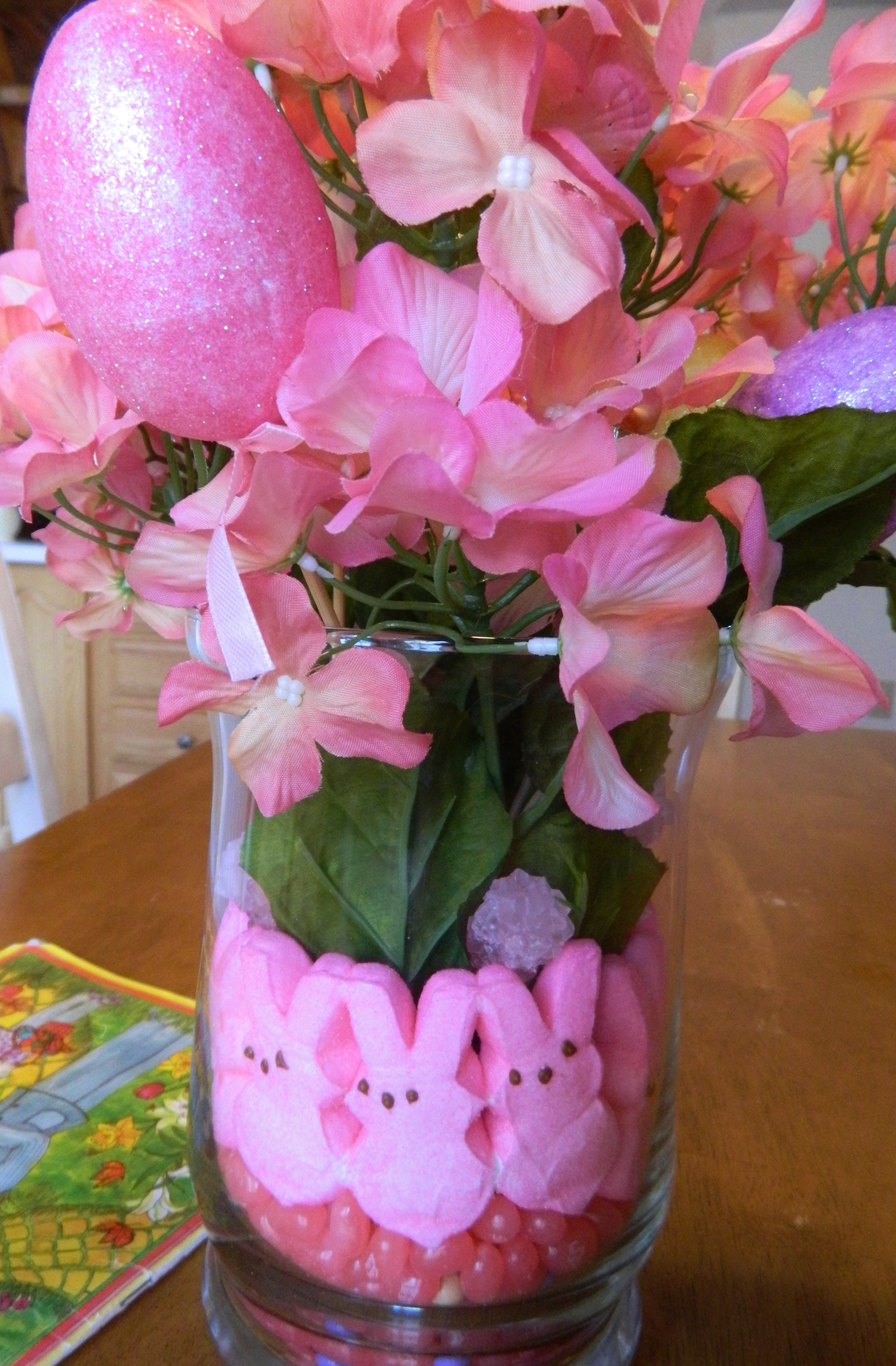Cheap Spring Decorations: Adorable And Inexpensive Easter Centerpiece