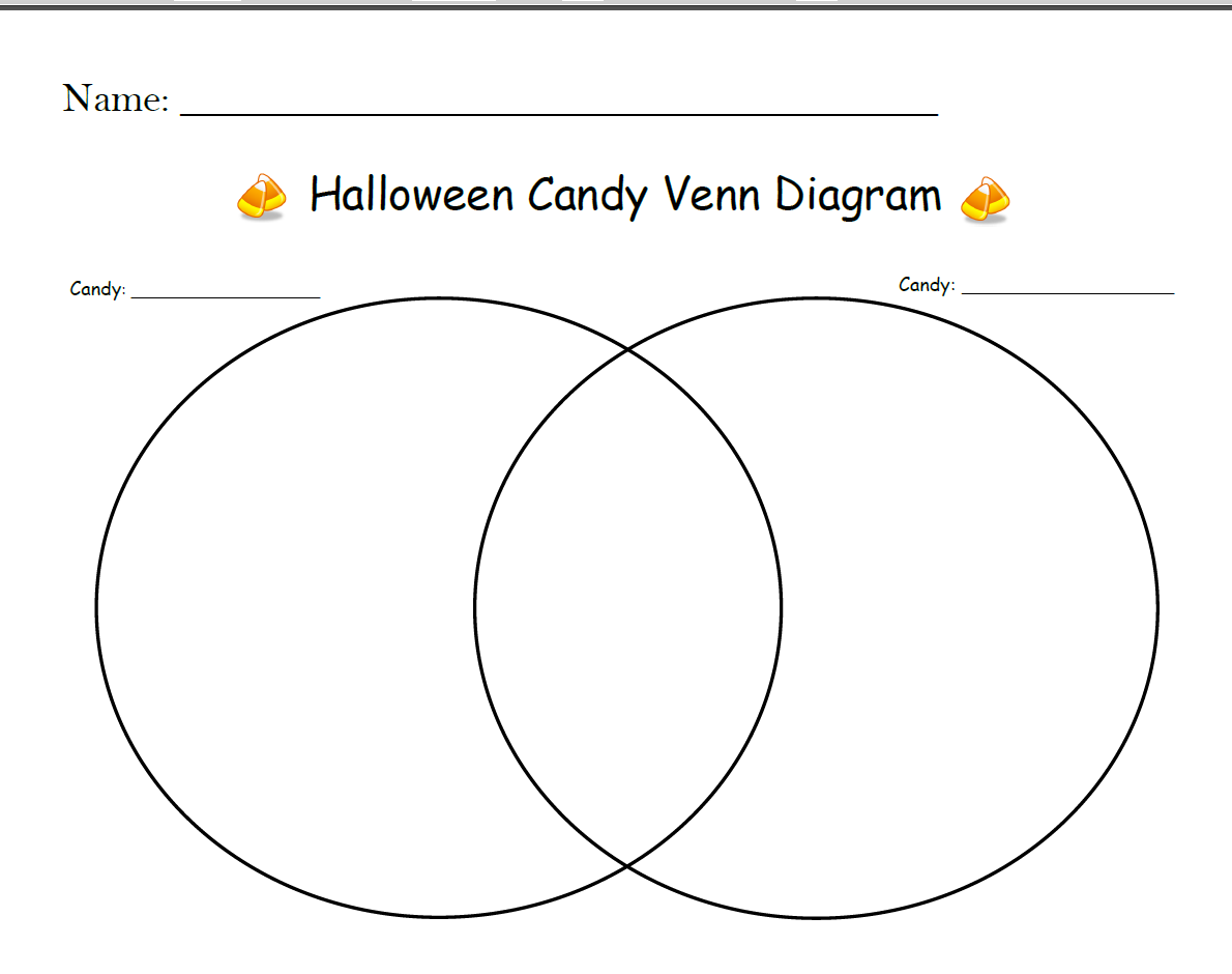 image about Free Printable Venn Diagram titled Halloween Sweet Venn Diagram Free of charge Printable Delight in Can make A